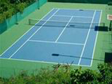 Tennis courts and tennis halls