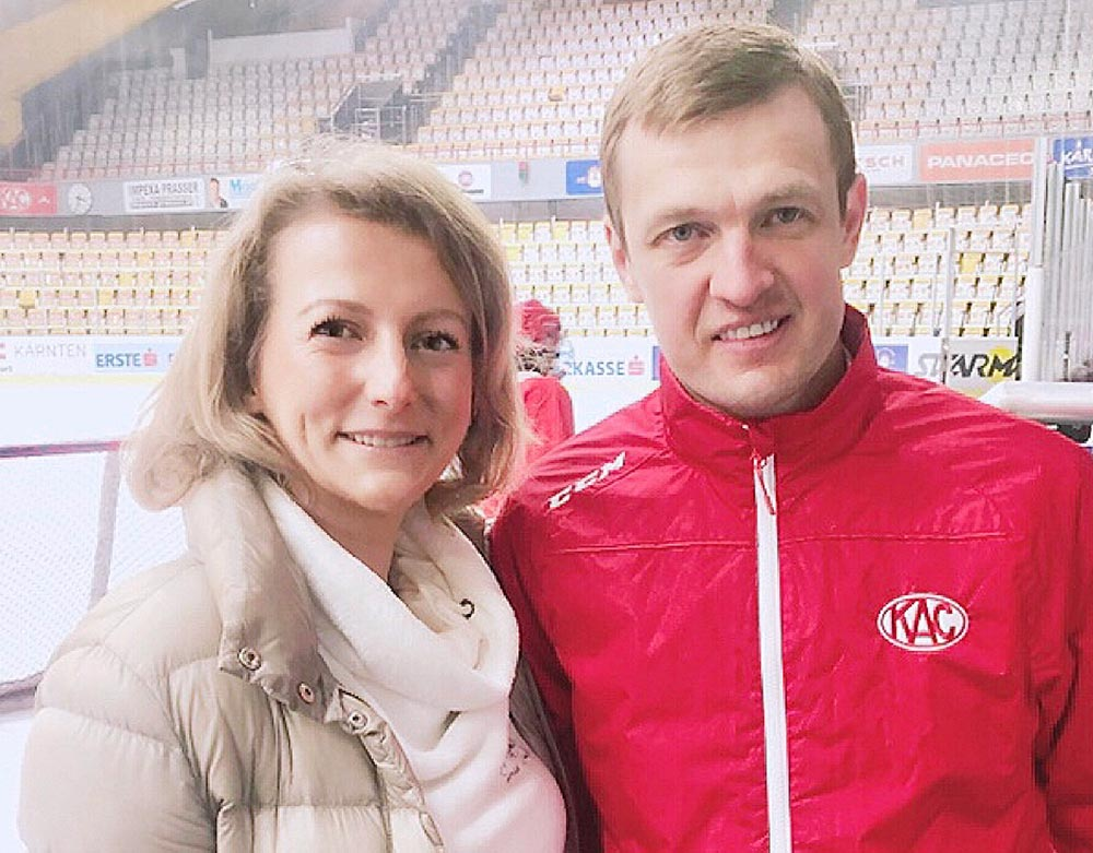 Meeting with the ice hockey superstar Alexei Tereshchenko in Austria Mar 2019