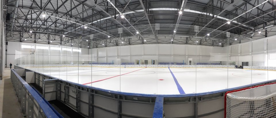 Sport and fitness centers with ice arena