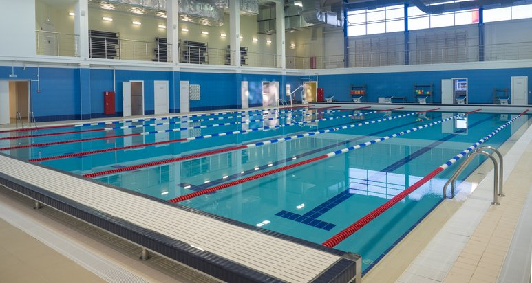 Sport and fitness centers with swimming pool