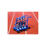 Compact starting blocks cart