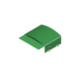 Shed on swiveling wheels for 3 hurdle carts