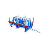 Cart for 60 competition hurdles