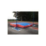 Weather cover for pole vault landing system