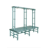 Benches WBX DOUBLE series for gyms, swimmings pools and wellness areas
