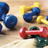 Aerobic dumbbells with PVC-cover 0,5kg - 5kg