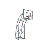 Mini-basketball backstop mobile