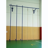 Climbing apparatus for school halls and gyms