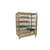 Equipment trolley for sports inventory, mobile