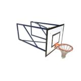 Wall mounted mini-basket backstop