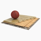 Flooring parquet for basketball halls SONDRIO 2