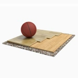 Flooring parquet for basketball halls TRENTO SOLID, FIBA Approved