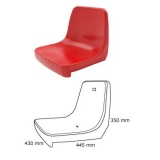Stadium backrest shell seats CR4 certificated by FIBA, UEFA /FIFA