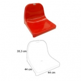 Stadium backrest shell seats A3 certificated by FIBA, UEFA /FIFA