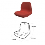 Monoblock seat with high backrest