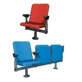 Armchair with synchronic folding of the seat and armrest M-Espace