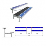 Metallic dismountable bleachers (benches) for sports HC63-20 with 2 rows