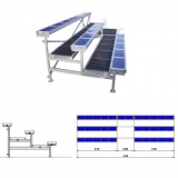 Metallic dismountable bleachers (benches) for sports HC63-20 with 3 rows