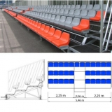 Metallic dismountable bleachers (benches) for sports HC72-25