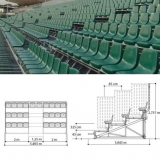 Metallic dismountable bleachers (benches) for sports HC85-32