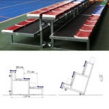 Metallic bleachers (benches) for sports T-FLEX