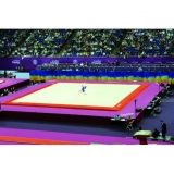 Competition exercise floor London 14 x 14 m - 14.50 cm thick - FIG approved