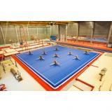 Exercise floor inflatable 12.60 x 12.60 m x 20 cm
