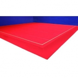 Gymnastics floor with 7 roll-up foam - 14 x 14 m