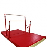 Training compact asymmetric bars 3356 and custom folding mat