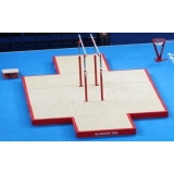 Set of landing mats for competition parallel bars