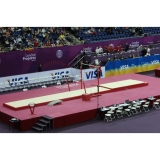 Set of landing mats for competition assymetric bars (with top mat)