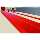 Spring Acrobatic track 13.50 x 2 m with roll-up mats