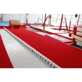 Acrobatic track - floor with roll-up track - 14 x 2 m