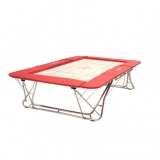 Large competition trampoline - 4x4 mm bed - FIG approved