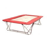 Large competition trampoline - 6x6 mm bed - FIG approved