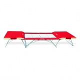 Complete large competition trampoline - 5 x 4 mm bed - with end desks and mat - FIG approved