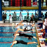 Timing and Scoring system for Swimming Aquasport V certificated by FINA