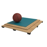 Flooring parquet for basketball halls RUBBER, FIBA Approved