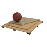 Flooring parquet for basketball halls SOLID, FIBA Approved