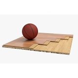 Flooring parquet for basketball halls TRENTO, FIBA Approved