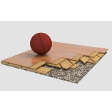 Flooring parquet for basketball halls BERNA, FIBA Approved