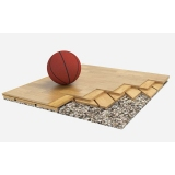 Flooring parquet for basketball halls TIRANO, FIBA Approved