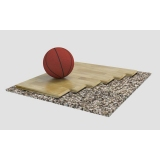 Flooring parquet for basketball halls ORTLES, FIBA Approved