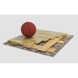Flooring parquet for basketball halls SONDRIO 1, FIBA Approved