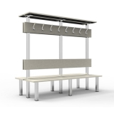 Benches DOUBLE BANK WITH HANGER MBA-2 for gyms, swimmings pools and wellness areas