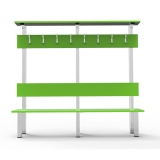 Benches BANK WITH SIMPLE HANGER (GREEN) MBA-1 for gyms, swimmings pools and wellness areas