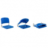 Stadium seats M2007 on step riser - certificated by FIBA, UEFA /FIFA