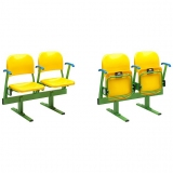 Stadium seats SR-S16M on metallic beam - UEFA recommended and FIBA approved