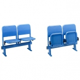 Stadium seats MR2008 on metallic bench - FIBA approved