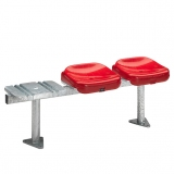 Stadium seats M90 on metallic beam - FIBA approved
